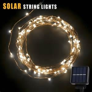 Solar Powered Patio String Lights Betterhome 120 Leds Outdoor Solar Powered Led String Lights 19ft Waterproof Copper Wire Lights