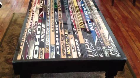 hockey stick coffee table hockey stick coffee table
