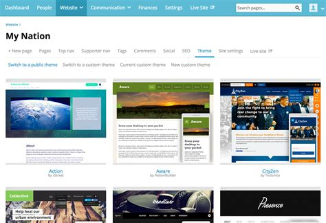 themes creator website how to create a website theme with nationbuilder