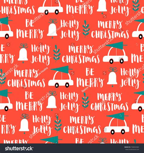 christmas pattern word vector christmas words seamless pattern on stock vector