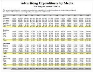 advertising plan advertising plan template free printables word excel