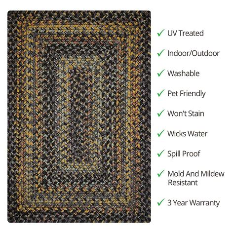 outdoor braided rugs buy black forest outdoor braided rugs homespice