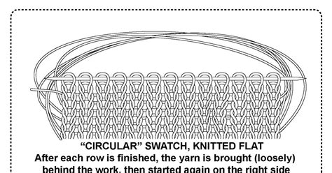 how to knit a flat circle with circular needles techknitting circular swatches knit flat back and forth
