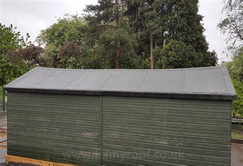 How To Felt A Shed Roof With Adhesive by Easy Fit Low Cost Diy Shed Roof 30 Year