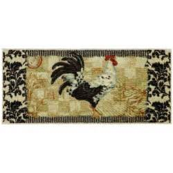 Mohawk Kitchen Rugs Mohawk Home Bergerac Rooster Neutral 20 In X 45 In Accent Kitchen Rug 322700 The Home Depot