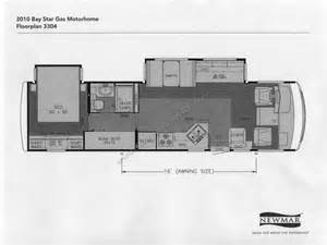 newmar floor plans 2010 newmar bay star gas motorhome