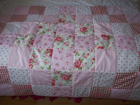 Cot Bed Patchwork Quilt - cath kidston shabby chic patchwork cot or bed quilt