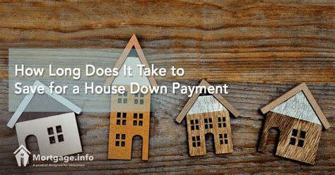 house down payment how long does it take to save for a house down payment
