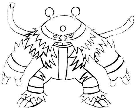 pokemon coloring pages electivire sta disegno di pokemon electivire da colorare picture