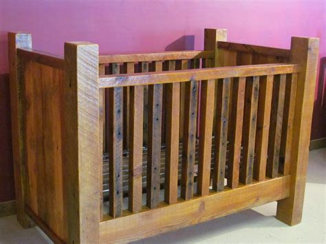 how to build a wood baby crib rustic barn wood baby crib with thick posts barn wood