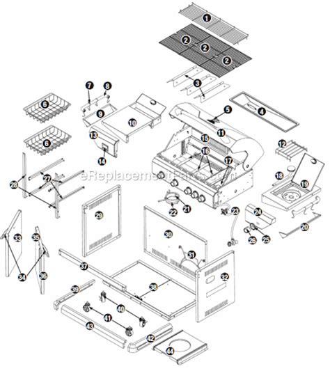 Backyard Grill Parts List Uniflame Gbc873w Parts List And Diagram