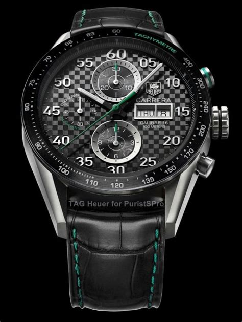 Tag Heuer Green Carerra on review day date calibre 16 the home of