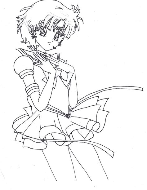 eternal sailor mercury lineart by sailor phoenix93 on