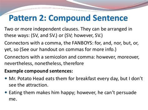 sentence pattern exles for sv descriptive linguitics