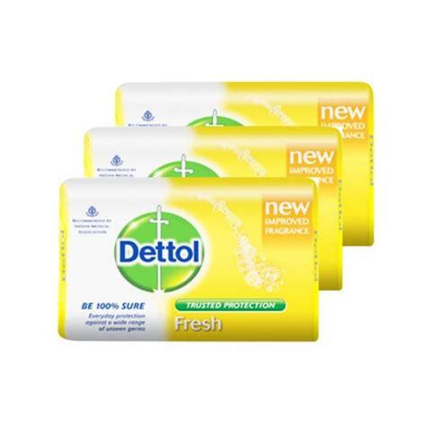 Dettol Sabun Mandi Batang 105g dettol soap fresh 3 x 105 gr