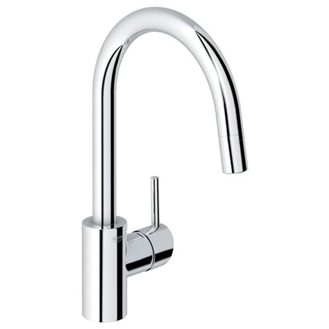 grohe faucets kitchen shop grohe concetto starlight chrome 1 handle deck mount pull kitchen faucet at lowes