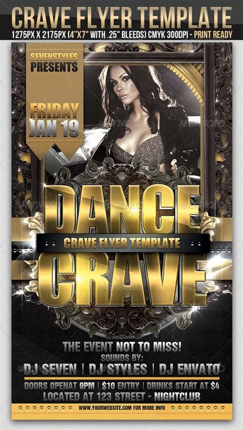 Flyer Templates Graphicriver Crave Flyer Template Graphicflux Graphicriver Flyer Template