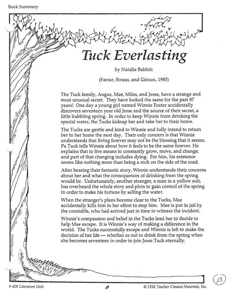 tuck everlasting book report tuck everlasting book summary www pixshark images