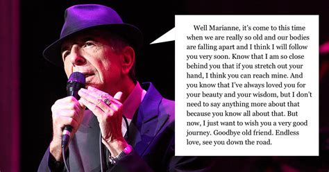 marianne ihlen leonard cohen people are sharing the heartbreaking final letter that