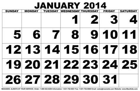 calendars large print calendar template 2016