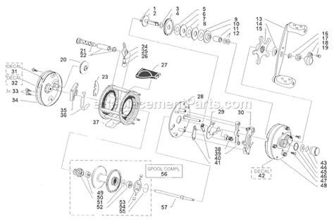 abu garcia reel parts diagram abu garcia 6000 parts list and diagram 09 01