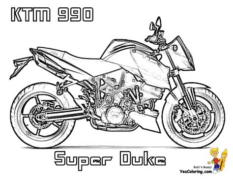 ktm motorcycle coloring pages moto ktm colouring pages