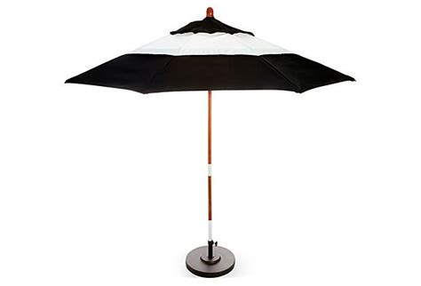 Black Patio Umbrellas Colorblock Patio Umbrella Black White