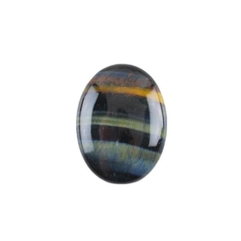 blue hawk s eye gemstone cabochon oval 15x20mm cool tools