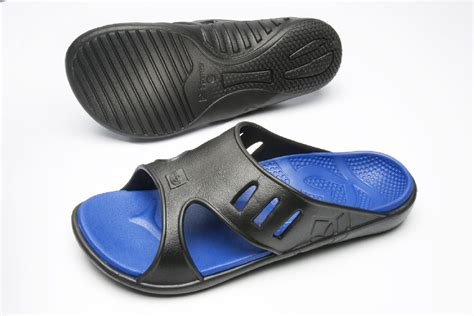 mens sandals with arch support spenco fusion s sandal black cobalt slides with