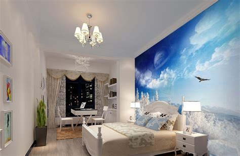 3d wallpaper for bedroom single bedroom wallpaper 3d design rendering