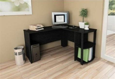 L Shaped Computer Desk Black Gorgeous Black L Shaped Computer Desk On Shaped Computer Corner Desk Black Home Executive Modern
