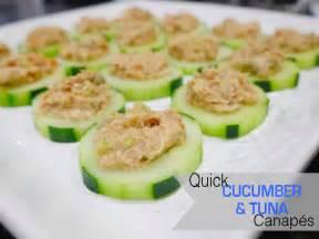 one thousand looks cucumber and tuna canape recipe