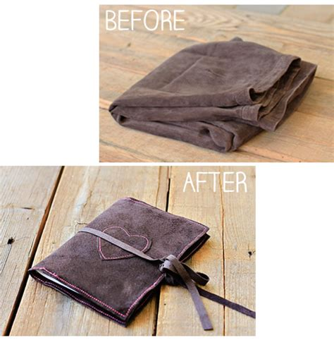 How To Make Handmade Notebooks - diy suede bookcovers and handmade journals