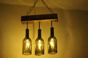 Diy Bottle Chandelier A Wine Bottle Chandelier Makes