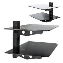 component shelf 2 tier wall mount av dvd console tv