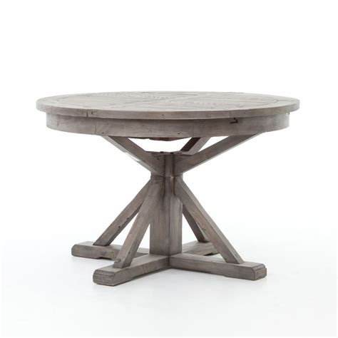 Circular Kitchen Table Cintra Reclaimed Wood Expandable Kitchen Table 47 Quot Gray Kitchen Hgtv And Rounding