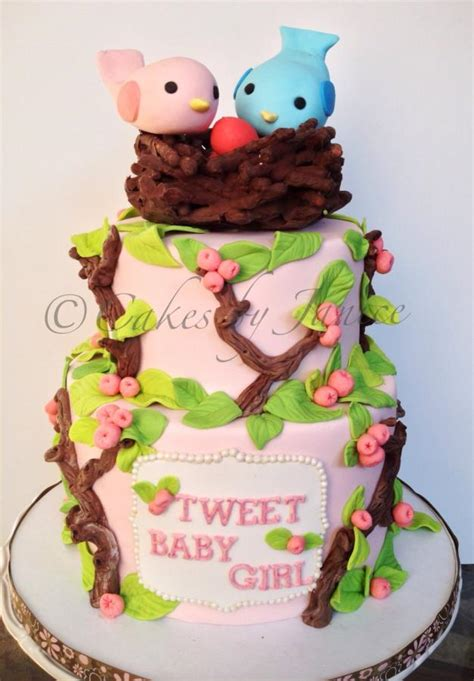 Bird Themed Baby Shower Cake by Bird Themed Baby Shower Cake Cake By Cakes By Janice