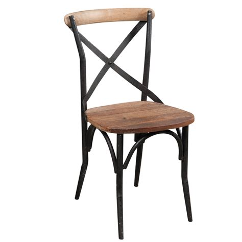 sedia in ferro sedia cross legno e ferro