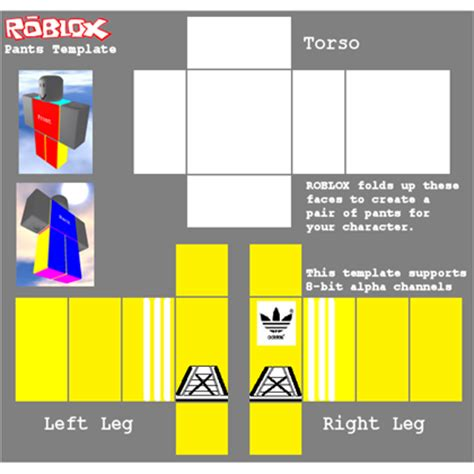 adidas pants template roblox