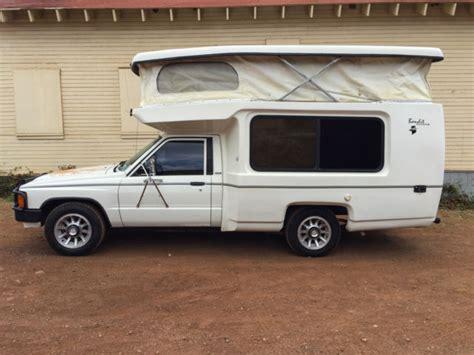 mini motorhome 1984 toyota bandit mini cer rv 17 22r pickup rare