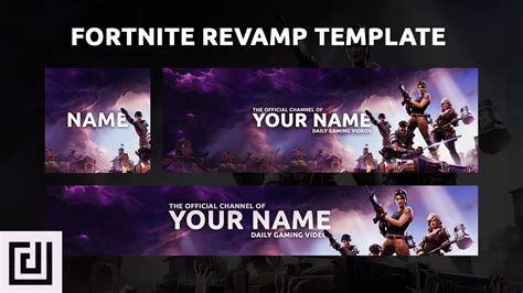 fortnite banner template free gfx fortnite rev template banner logo header