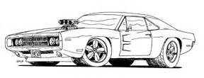 68 or 69 dodge chargers colouring pages sketch template