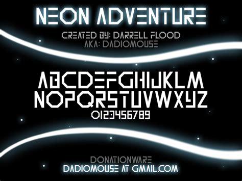 dafont neon neon adventure schriftart dafont com