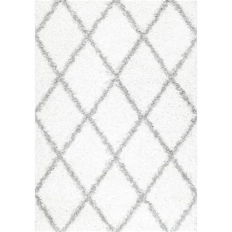 10 X 10 White Area Rug - nuloom shanna shag white 7 ft 10 in x 10 ft area rug