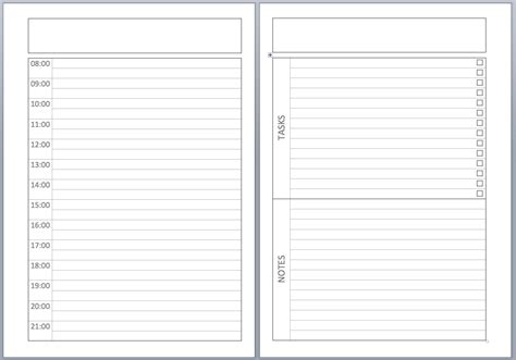 pages template philofaxy a5 undated diary layouts
