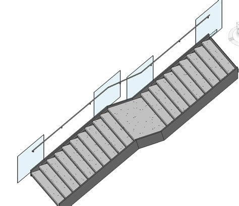 revit balustrade tutorial revitcity com glass balustrade with side mounted handrail