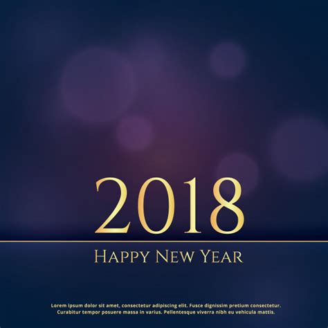 new year cards 2018 premium 2018 new year greeting card design