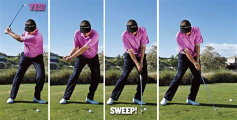 how to swing down on the golf ball the truth about ball flight golf tips magazine