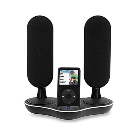 bed bath and beyond speakers homedics 174 wireless ipod 174 speaker and dock system bed bath beyond
