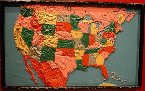 usa blind map relief map puzzle of the usa published by the american